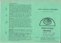 OEM Leaflet for City Council Elections 1978