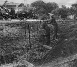 Repairing the Fence Greenham 1982